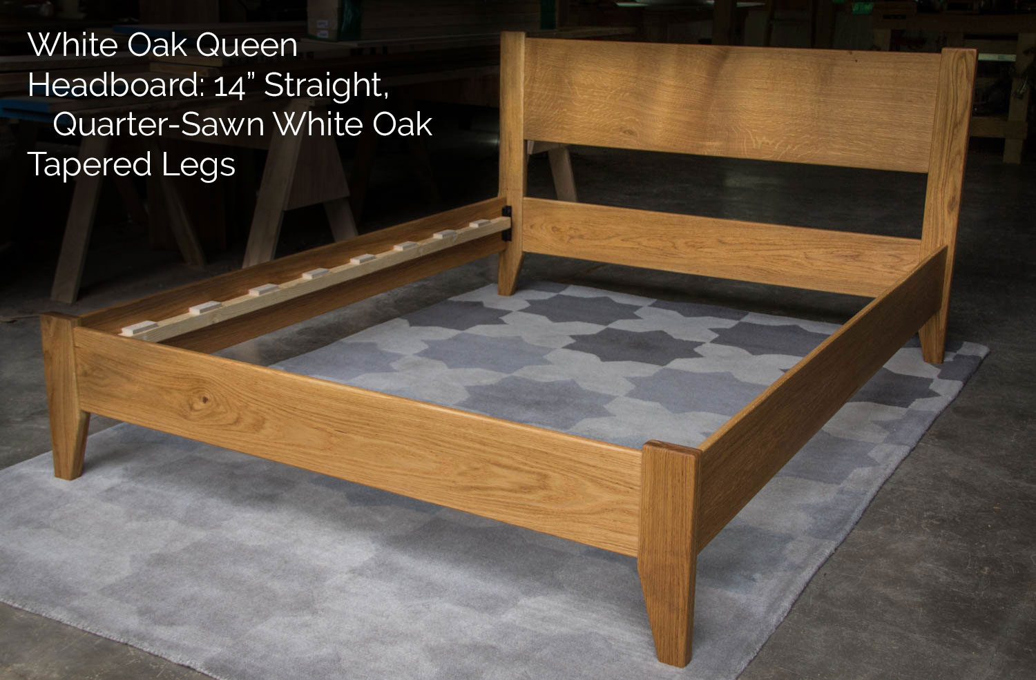 Mountain Mule Hardwoods Beds With Straight Headboards